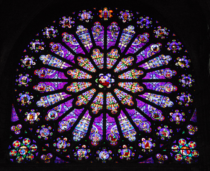 The Rose Window At Saint Denis